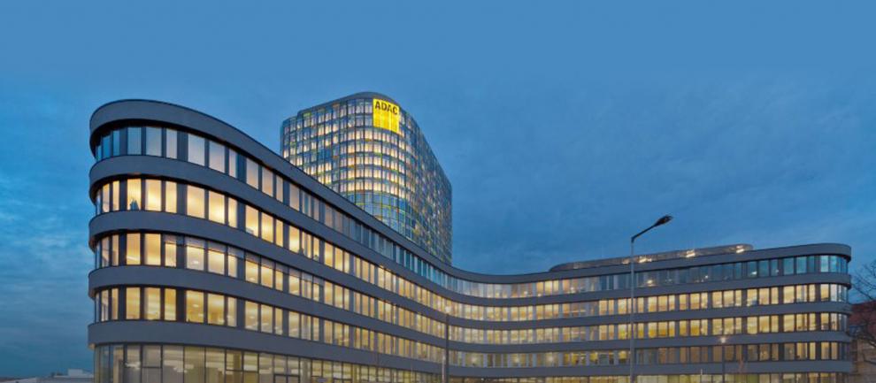 München ook verlicht met LED, adac