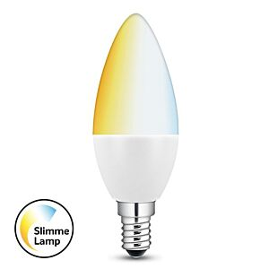 Smart E14 LED kaarslamp 5,8W wittonen