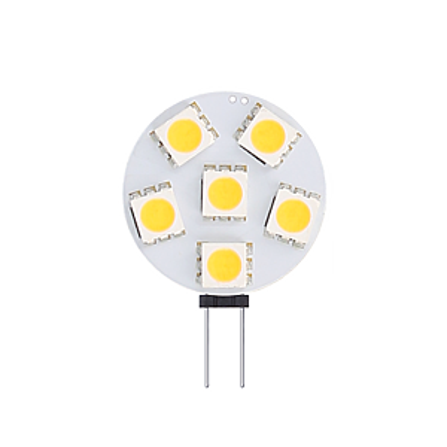 G4/GU4 LED lamp 12-24V 1W SMD 2900K dimbaar