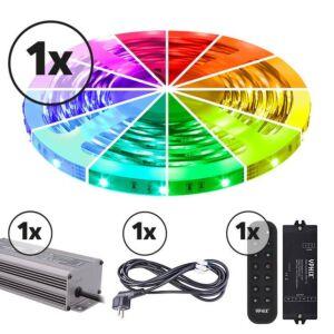 LED strip 5m complete set 12V RGB IP20 150 SMD 3528 LEDS