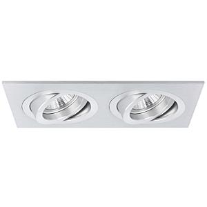Inbouwspot Torino dubbel aluminium kantelbaar met klemveren
