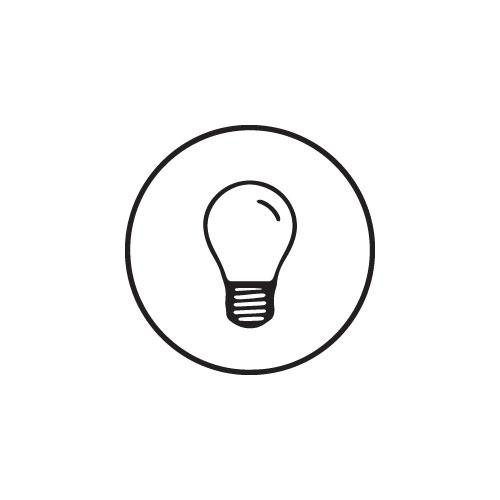 LED plafondlamp Hillsand zwart 6W 3000K IP65