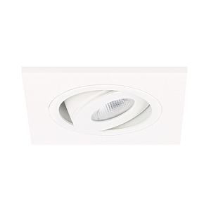 LED inbouwspot Alba vierkant 3W 2700K wit IP65 dimbaar kantelbaar