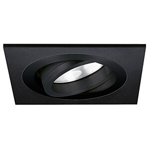LED inbouwspot Lecco vierkant 5W 2700K zwart IP65 dimbaar kantelbaar