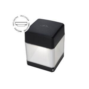 Wandlamp Elisa zwart helder glas GX53 3W 3000K/4000K/6500K IP55