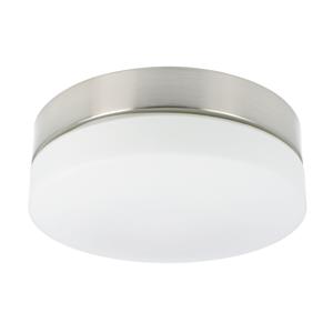 LED plafonnière Palma rond 28,5 cm IP44 glas