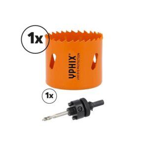 Hss bi-metaal gatenzaag 52mm incl. adapter 3/8''