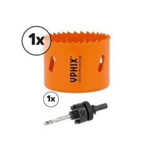 Hss bi-metaal gatenzaag 60mm incl. adapter 3/8''