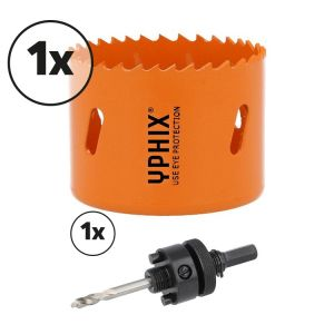 Hss bi-metaal gatenzaag 70mm incl. adapter 7/16''