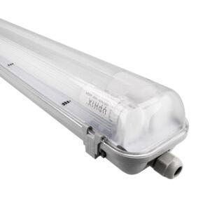 LED TL armatuur 2 X 60cm Aqua Pro koppelbaar IP65 incl. 2x LED TL buis 9W 4000K