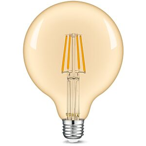 E27 LED filament lamp Atlas G125 4,5W 2200K dimbaar gold