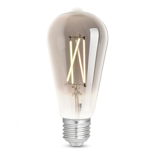 E27 Smart Wifi LED Lamp Filament WiZ ST64 6,5W 2200-4500K Smokey