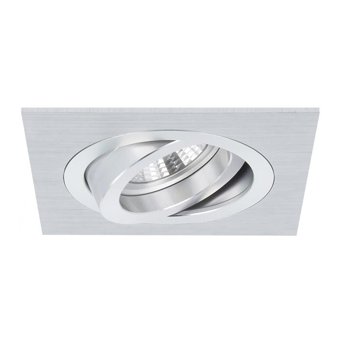 Inbouwspot Torino vierkant aluminium kantelbaar met klemveren