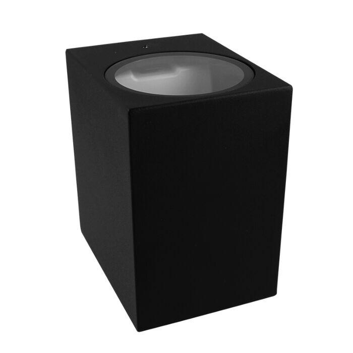 Wandlamp Kubbe 4 up and down zwart IP54 GU9