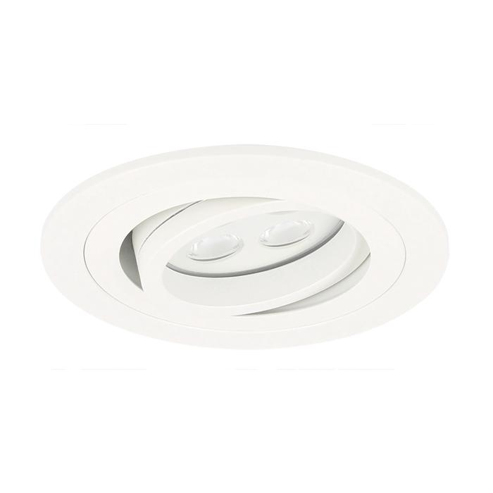 LED inbouwspot Montella rond 5W 2700K wit IP65 dimbaar kantelbaar
