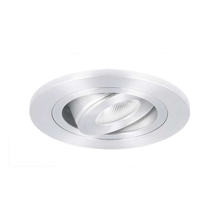 LED inbouwspot Monza rond 3W 2700K aluminium IP65 dimbaar kantelbaar