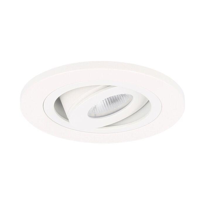LED inbouwspot Monza rond 3W 2700K wit IP65 dimbaar kantelbaar