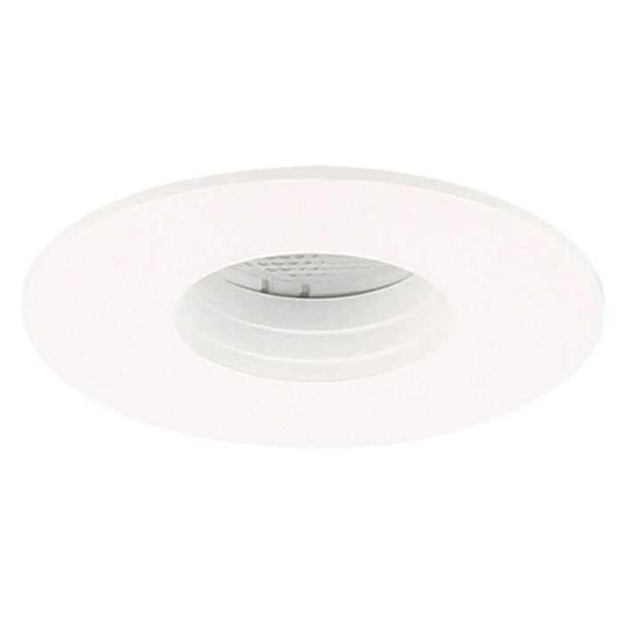 LED inbouwspot Piatto rond 3W 2700K wit IP55 dimbaar