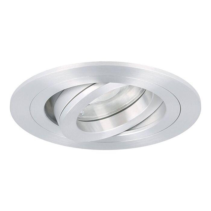 LED inbouwspot Argenta rond 7W 2700K aluminium IP65 dimbaar kantelbaar