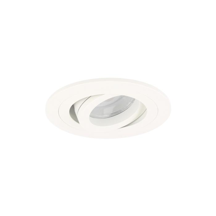LED inbouwspot Argenta rond 7W 2700K wit IP65 dimbaar kantelbaar