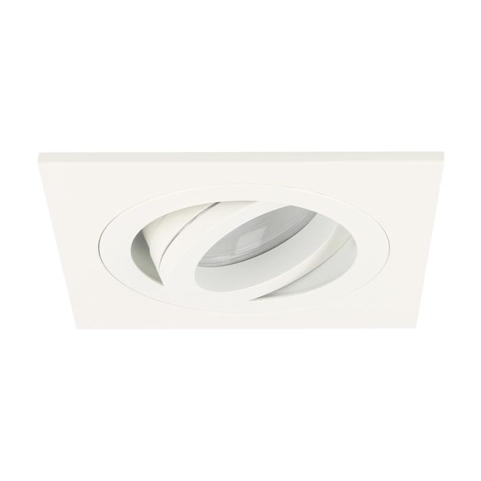LED inbouwspot Cantello vierkant 7W 2700K wit IP65 dimbaar kantelbaar