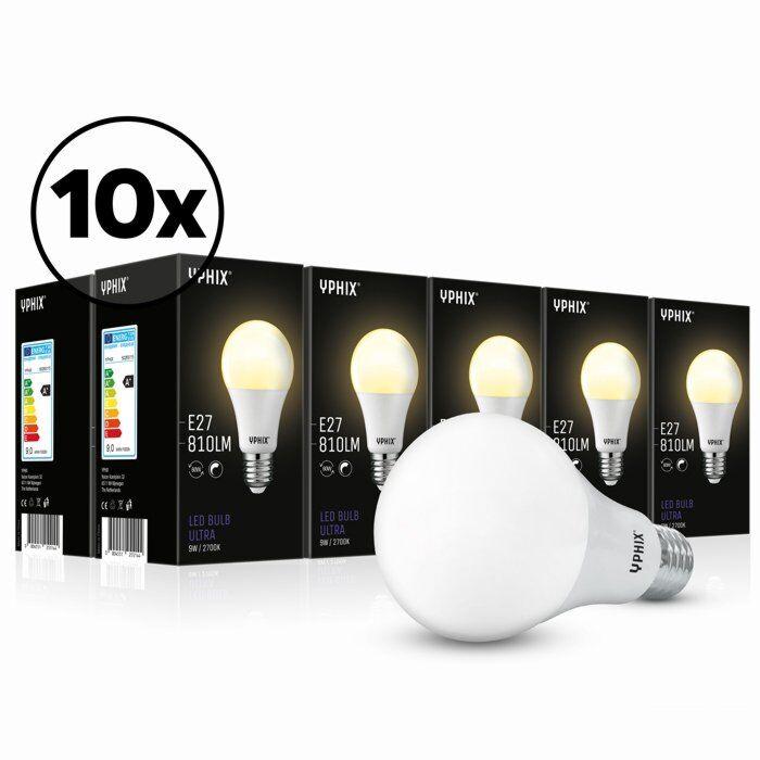 E27 LED lamp Ultra 10-pack A60 9W 2700K dimbaar