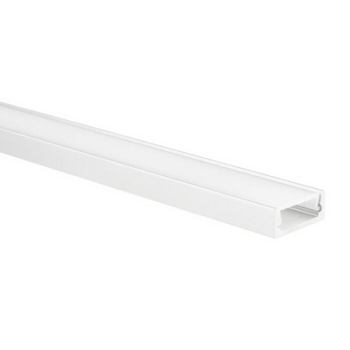 LED strip profiel Felita wit extra laag 5m (2 x 2,5m) incl. melkwitte afdekkap