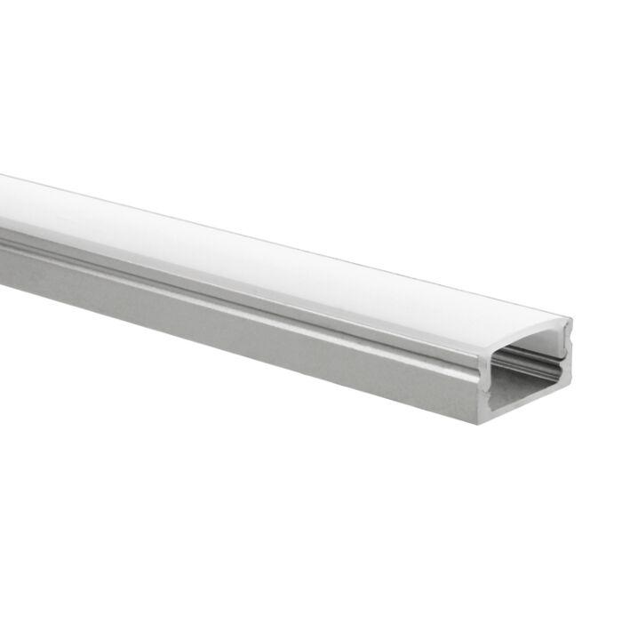 LED strip profiel Potenza 1 meter inclusief melkwitte afdekkap