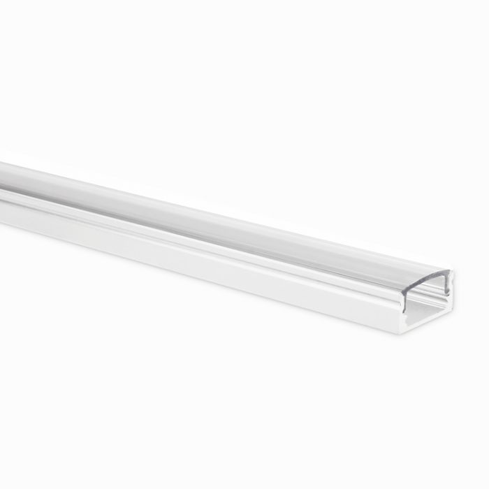 LED strip profiel Potenza wit 1 meter inclusief transparante afdekkap