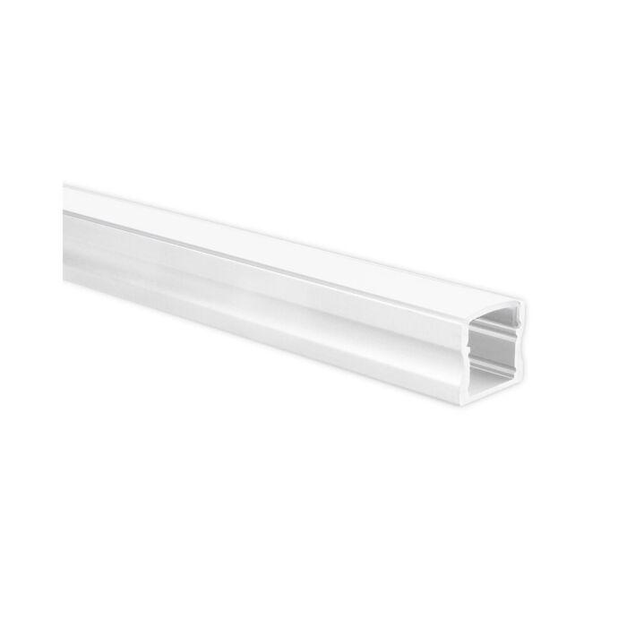 LED strip profiel Potenza wit hoog 5m (2 x 2,5m) incl. melkwitte afdekkap