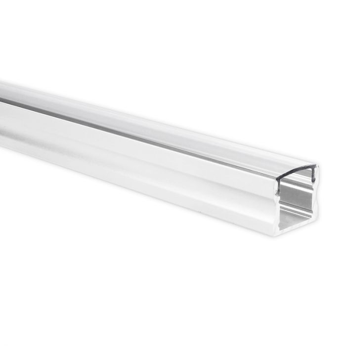 LED strip profiel Potenza wit hoog 1 meter inclusief transparante afdekkap