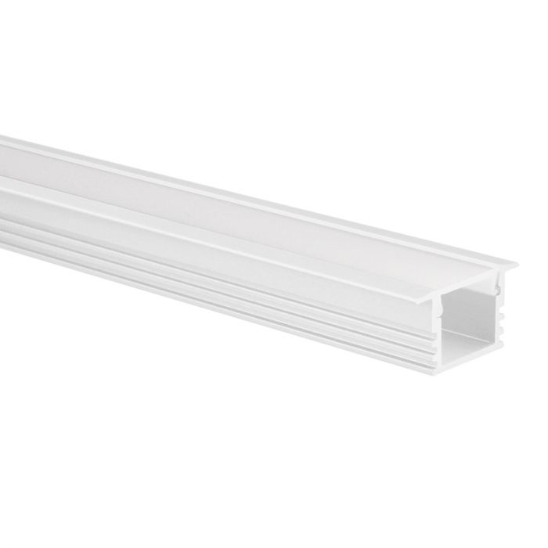 LED strip profiel Matera wit hoog 5m (2 x 2,5m) incl. melkwitte afdekkap