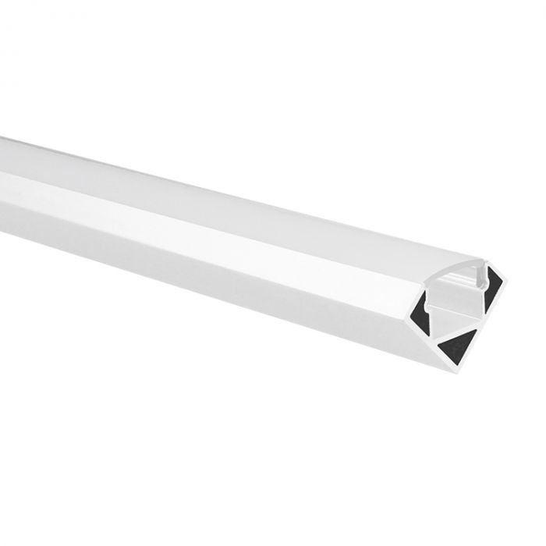 LED strip profiel Tarenta wit hoek 1m incl. melkwitte afdekkap