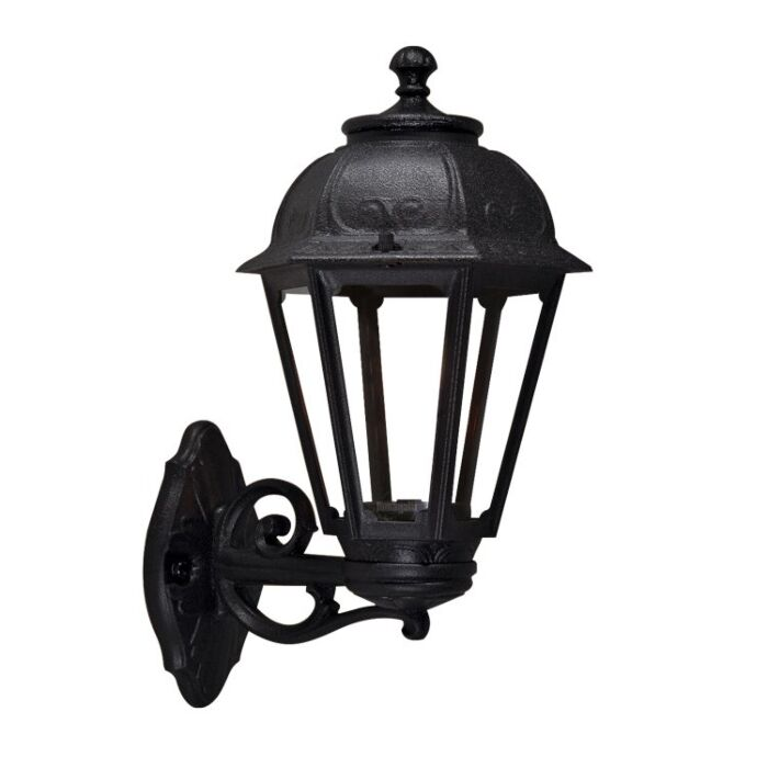 Wandlamp Saba zwart helder glas E27 IP55