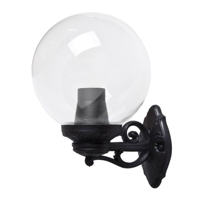 Wandlamp G250 zwart helder glas E27 IP55