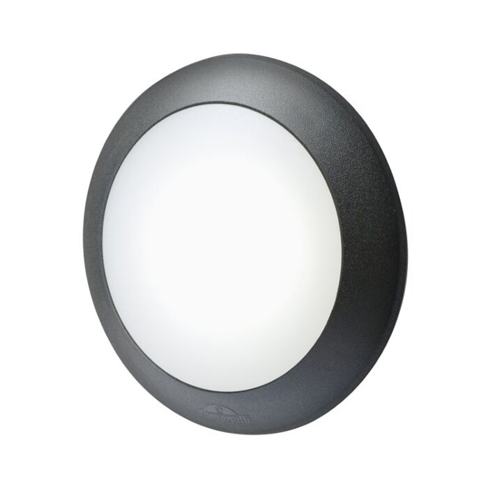 Wandlamp Berta met bewegingssensor zwart E27 IP66