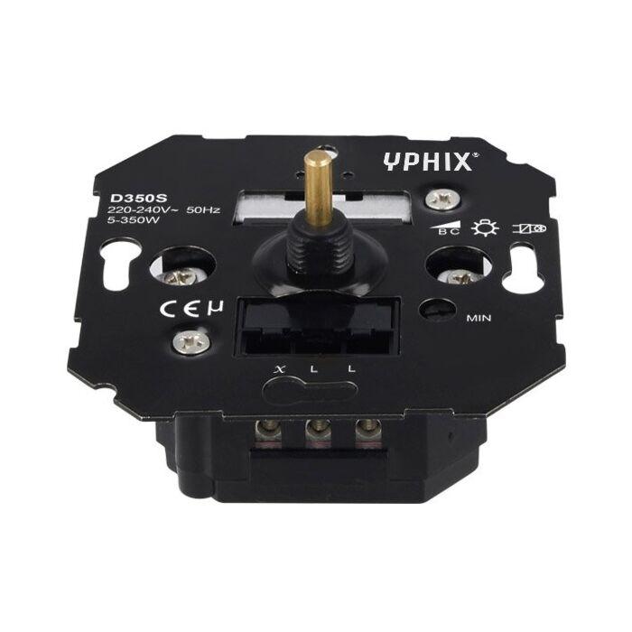 LED dimmer 5-350W inbouw 230V fase afsnijding