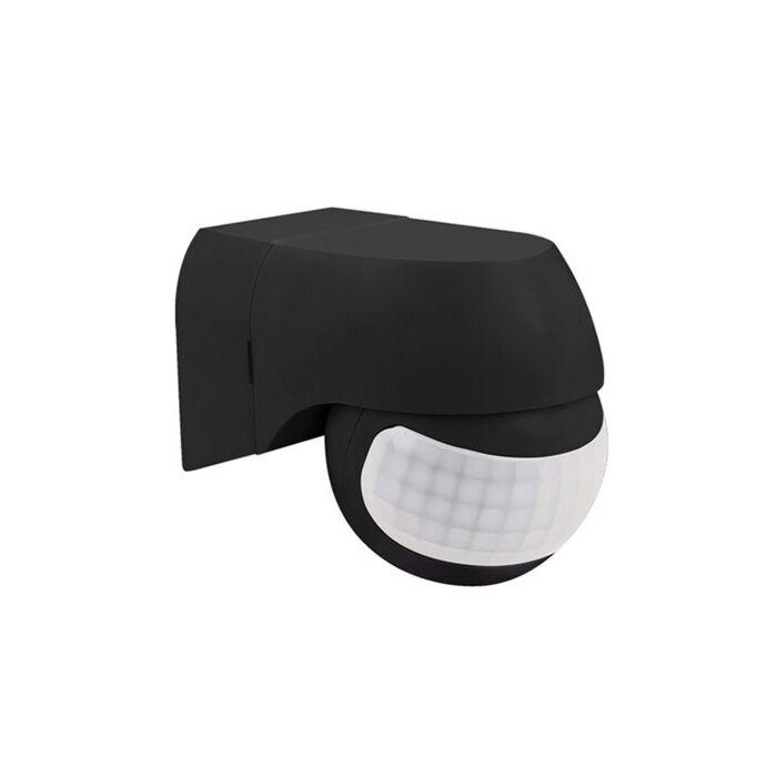 LED Bewegingsmelder buiten muur opbouw zwart IP44