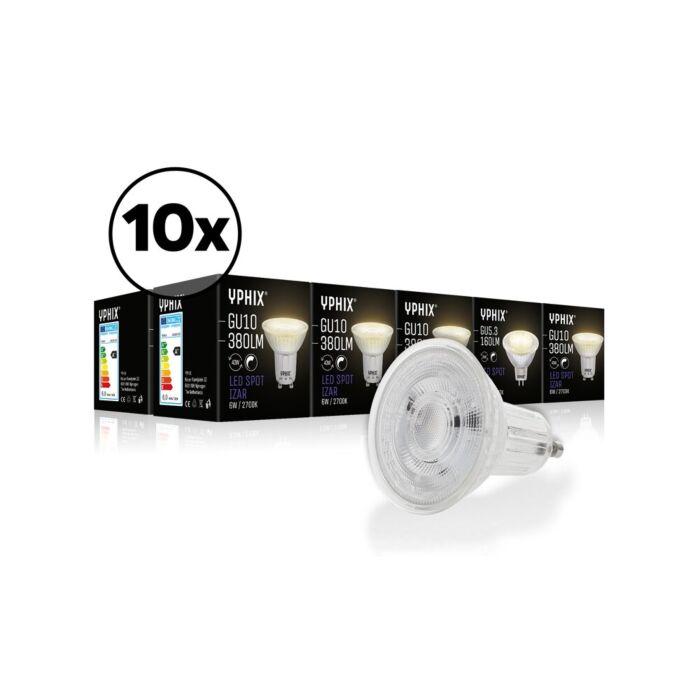 GU10 LED lamp Izar 10-pack 36° 6W 2700K dimbaar