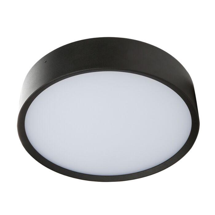 Plafondlamp Arendal 1 zwart 12W 3000K IP65