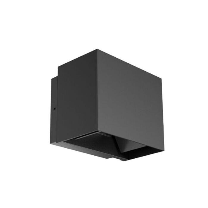 Wandlamp Twingo zwart 10W 3000K instelbare lichthoek IP65